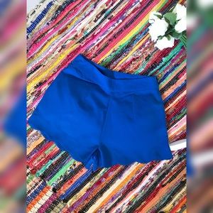 Blue Silk Shorts with ruffle